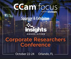 CCam focus was a sponsor and exhibitor at Insights Association's Corporate Researchers Conference in Orlando