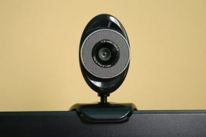 Webcam on top of a computer